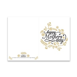 Mother's Day Card - Gold Roses - Printable free mother's day card, printable mother's day card, flowery mother's day card
