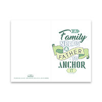 Father's Day Card - A Family Needs a Father - Printable free father's day card, printable father's day card,