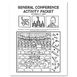 October 2018 General Conference Activity Packet Printable - English general conference printable, general conference activity packet, free general conference printable,