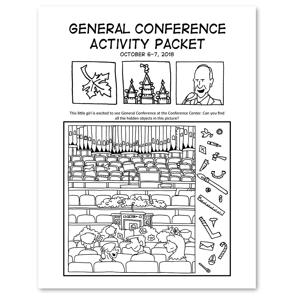 October 2018 General Conference Activity Packet Printable English