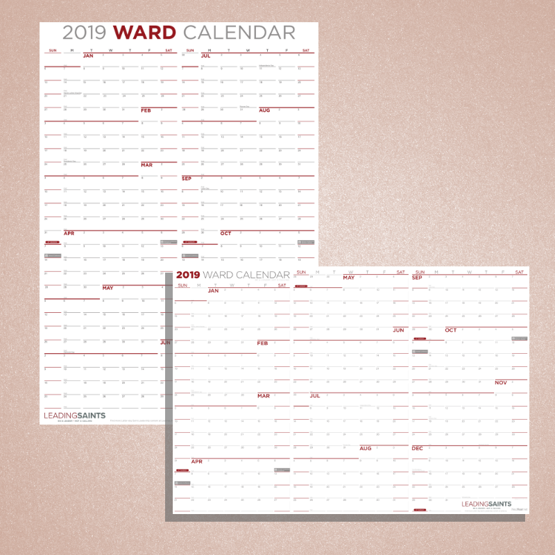 2020 Yearly Ward Calendar - LDP-PSTYWC2020