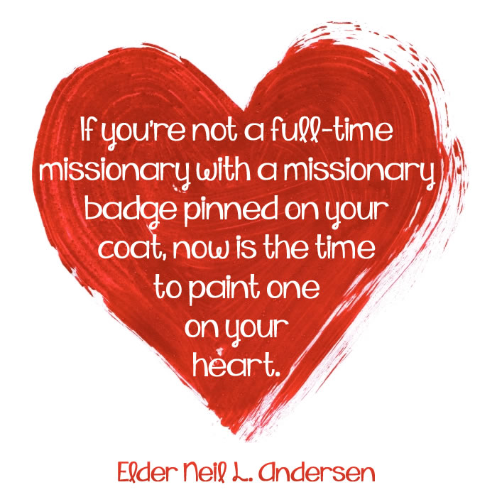 Paint a missionary badge on your heart