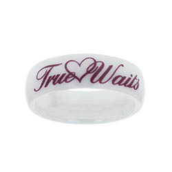 Ceramic Love Waits Ring
