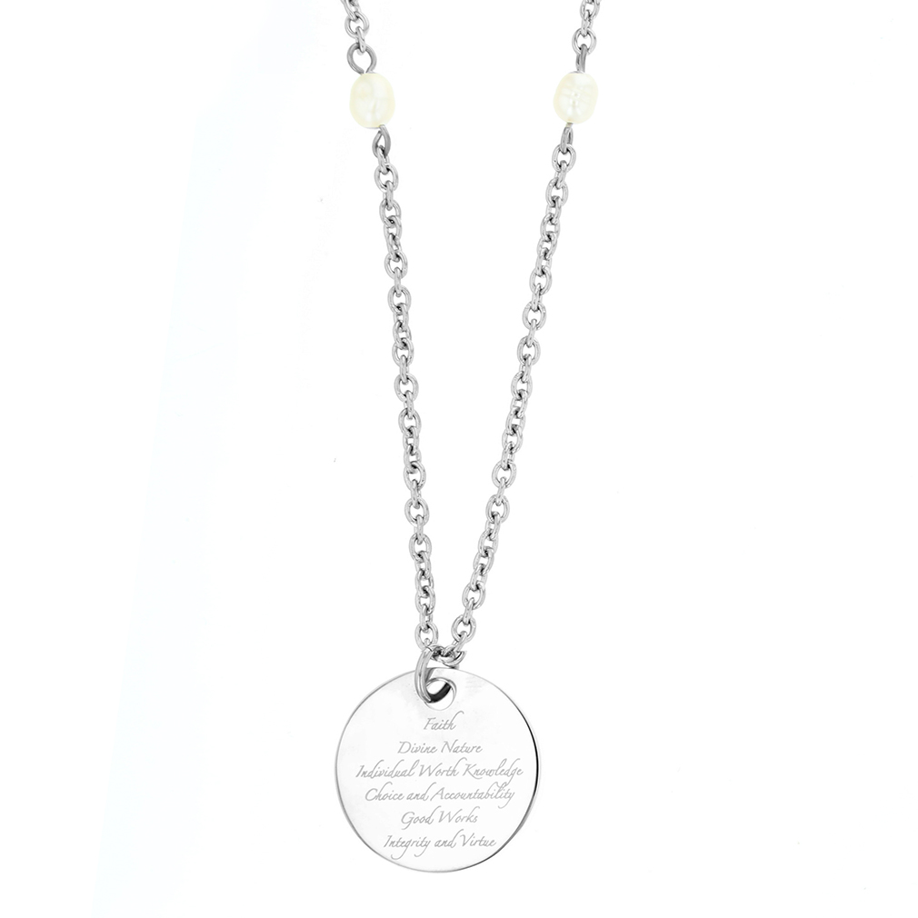 Young Women Necklace With Pearl - OMT-K12N