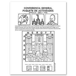 April 2018 General Conference Activity Packet Printable - Spanish general conference printable, general conference activity packet, free general conference printable,