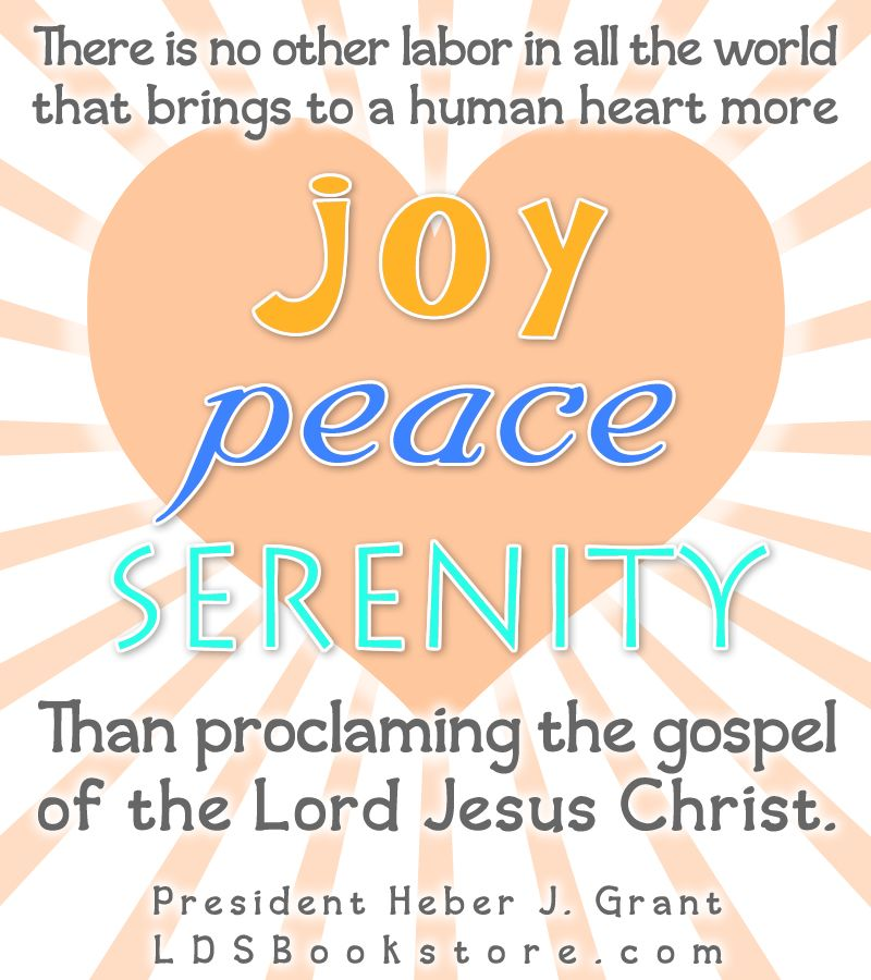 Joy Peace and Serenity by Preaching the Gospel