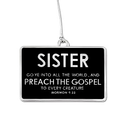 Sister Missionary Badge Ornament