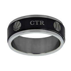 Black Sports Spinner CTR Ring