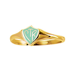 Mint & Gold CTR Ring - Classic