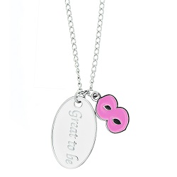 Pink Its Great To Be Eight Necklace