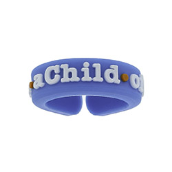 Adjustable I am A Child of God Ring