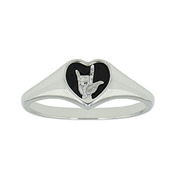 I Love You Sign Language Ring