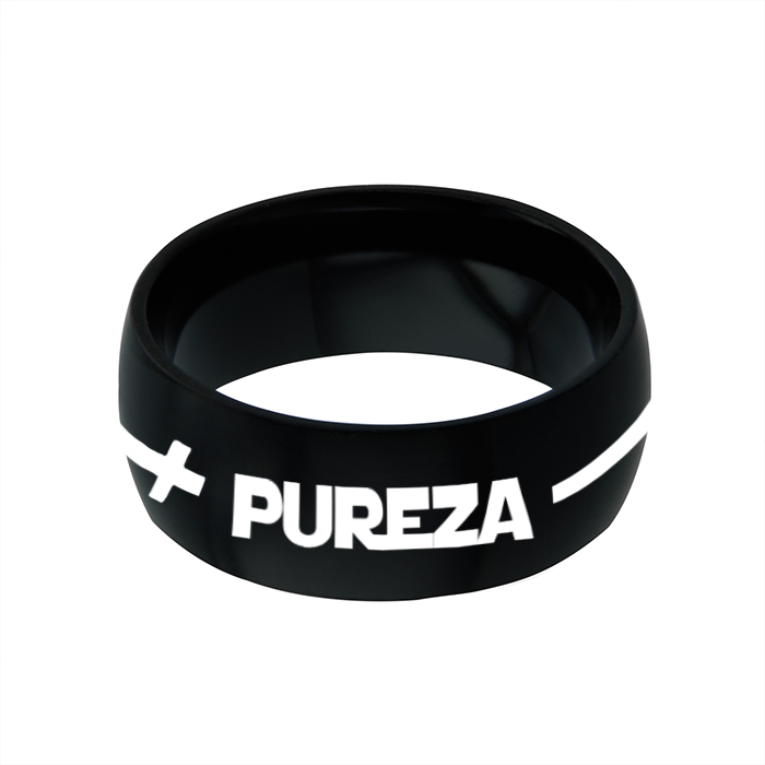 Spanish Purity Cross Ring - Wide - FP-RNGB122