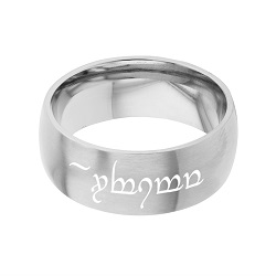 Elvish Purity Ring - Wide elvish ring, lord of the rings language ring, engrave-able ring, engraved ring, personalized ring, customized ring, stainless steel ring