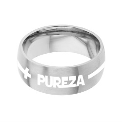 Spanish Purity Cross Ring - Wide spanish, cross ring, spanish purity ring, spanish cross engrave-able ring, engraved ring, personalized ring, customized ring, stainless steel ring