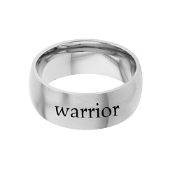 Warrior - His Word Ring his word ring, warrior ring, Zephaniah 3:17 ring,  scripture ring, scripture reference ring