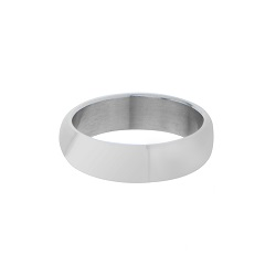 Domed Stainless Steel Narrow Ring