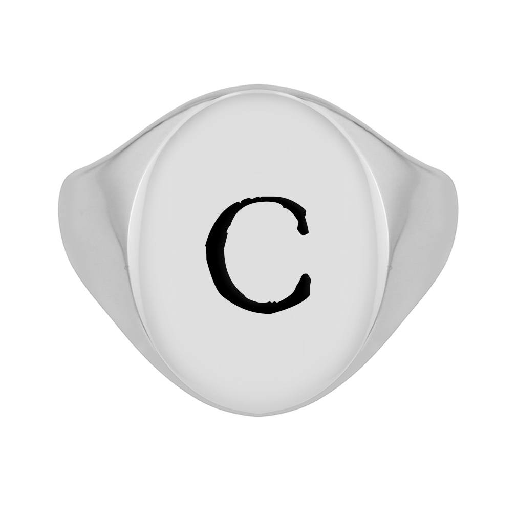 Customizable Oval Signet Ring - LDP-RNGO