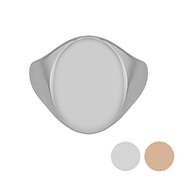 Customizable Oval Signet Ring