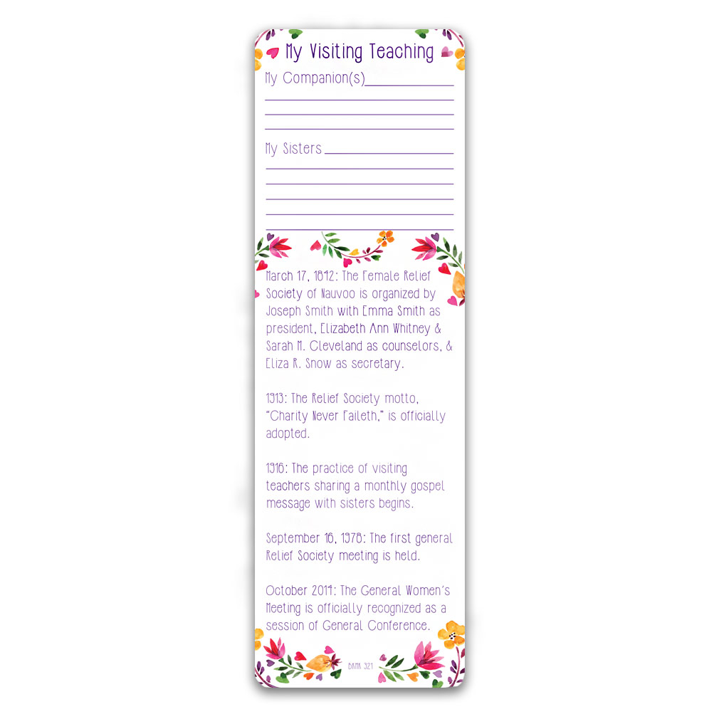 Relief Society Bookmark - LDP-BKMK321