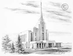 Rexburg Idaho Temple - Sketch