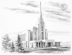 Rexburg Idaho Temple - Sketch