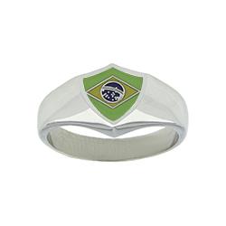 Brazil Flag Ring