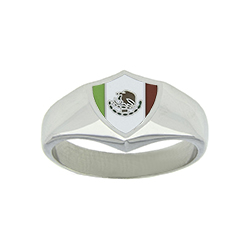 Mexico Flag Ring