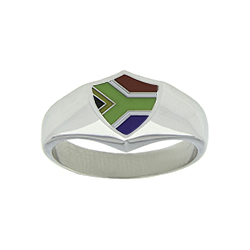 South Africa Flag Ring