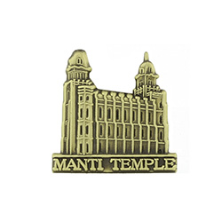 Manti Temple Tie Pin - Gold