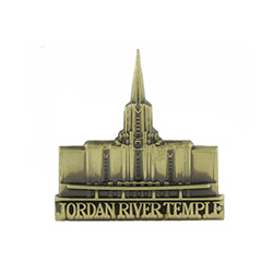 Jordan River Temple Tie Pin - Gold