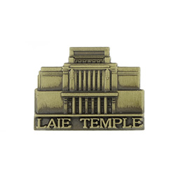 Laie Hawaii Temple Tie Pin - Gold