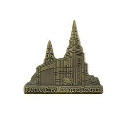 Kansas City Missouri Temple Tie Pin - Gold
