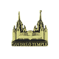 San Diego Temple Tie Pin - Gold