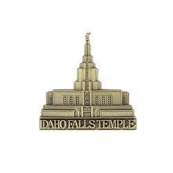 Idaho Falls Temple Tie Pin - Gold