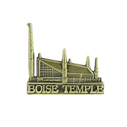 Boise Temple Tie Pin - Gold