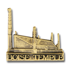 Boise Idaho Temple Tie Pin - Gold
