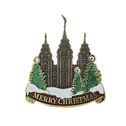 Salt Lake City Temple Pin - Merry Christmas salt lake city temple pin, christmas pin, temple christmas pin