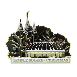 Temple Square Pin - Christmas salt lake city temple pin, christmas pin, temple christmas pin, temple square pin, temple square at christmas