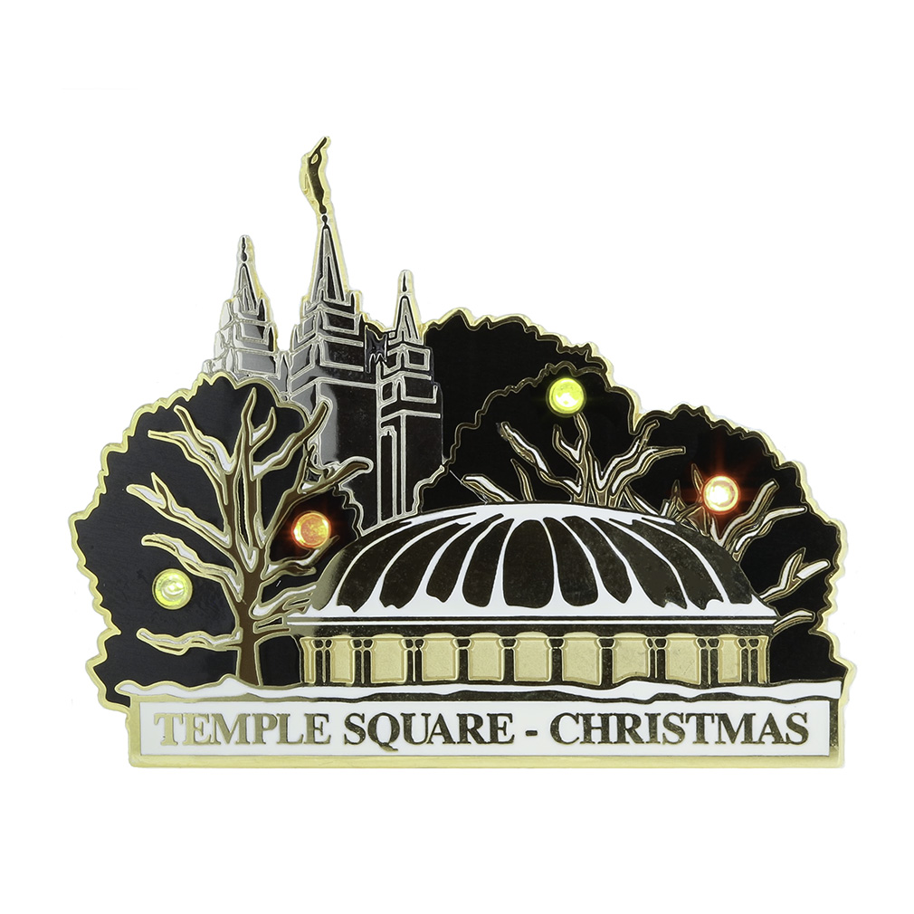 Light Up Temple Square Pin - Christmas - SA-TPN035