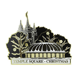 Light Up Temple Square Pin - Christmas salt lake city temple pin, christmas pin, temple christmas pin, temple square pin, luight up temple square at christmas, light up pin