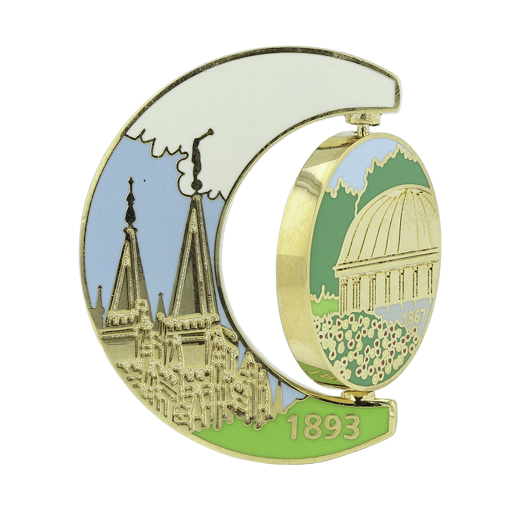 Salt Lake Temple Spinner Pin - Old & New Tabernacle - SA-TPN036