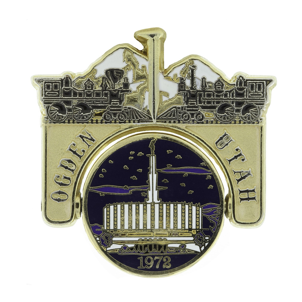 Ogden Temple Spinner Pin - Old & New - SA-TPN037