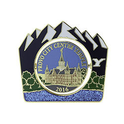 Provo City Center Temple Spinner Pin - Old & New provo city center temple pin, provo city center pin, temple pin