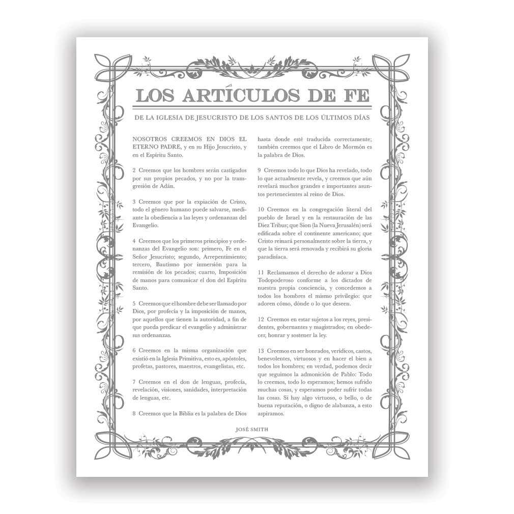 Filled Leaf Articles of Faith - Spanish - LDP-AF281S