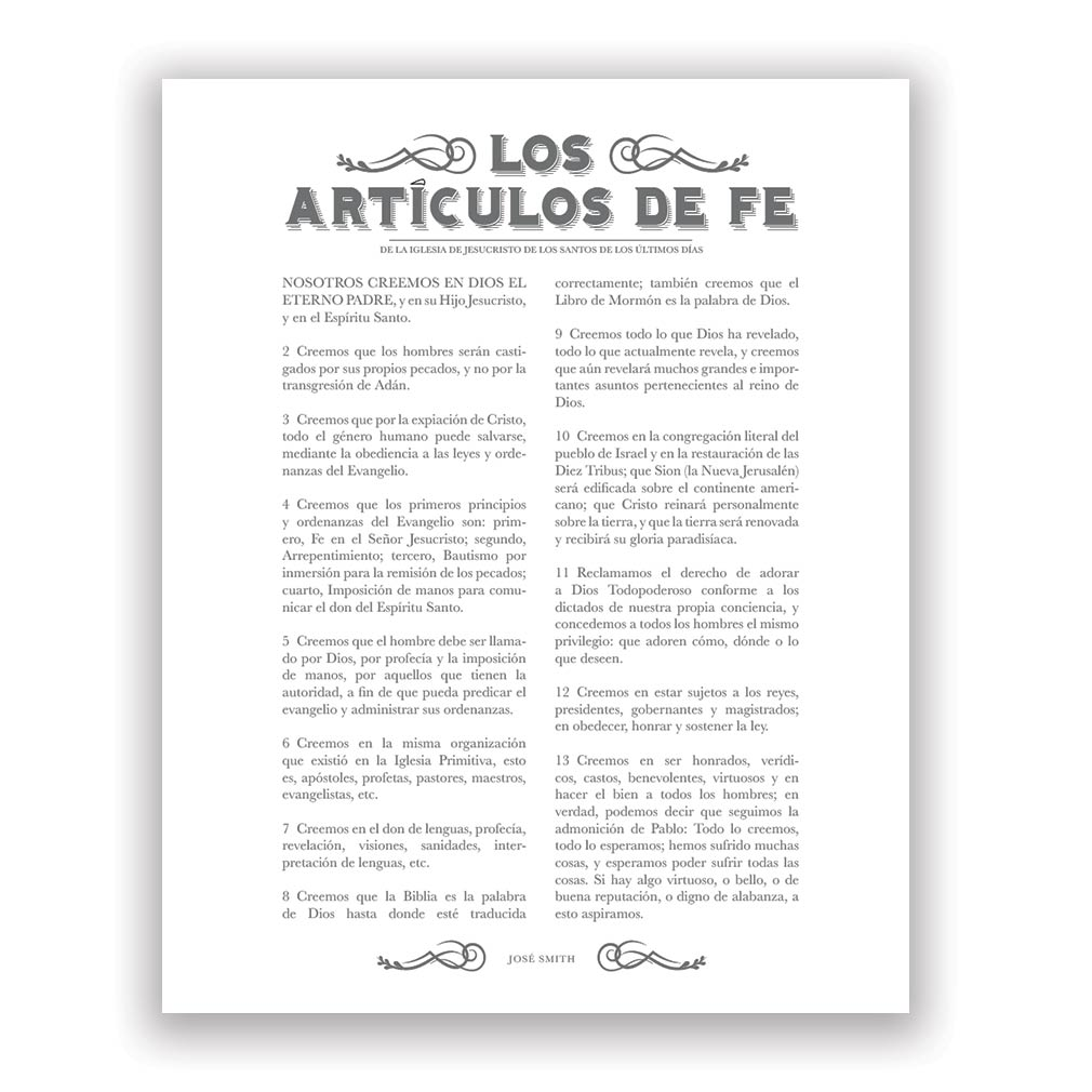 Newspaper Articles of Faith - Spanish - LDP-AF285S