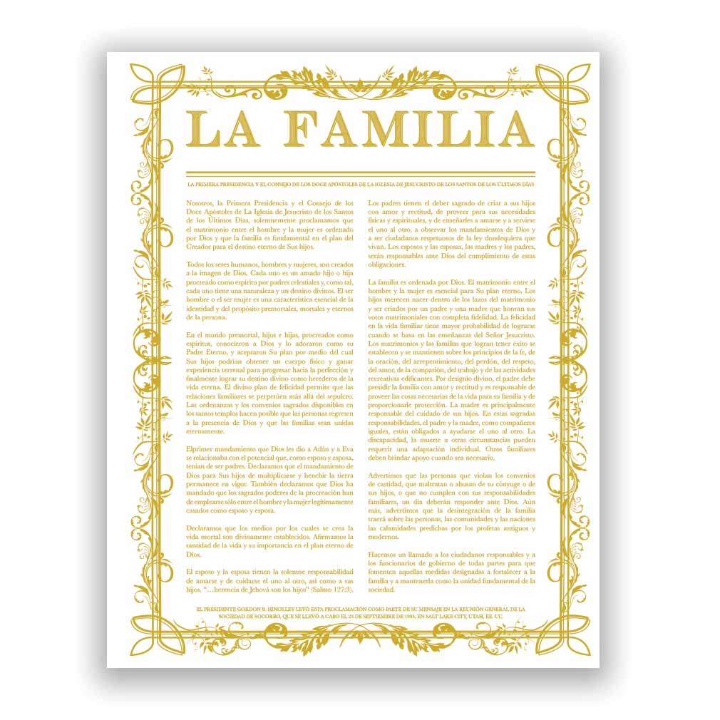 Filled Leaf Family Proclamation - Spanish - LDP-FP281S