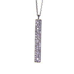 Path of Righteous Silver CZ Necklace