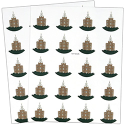 Logan Temple Stickers - 40 count logan temple stickers, logan temple, utah temple stickers, utah temple colored stickers