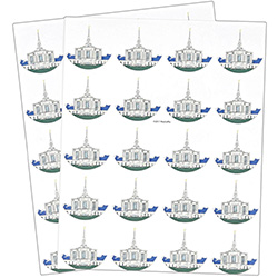 Ogden Temple Stickers - 40 count